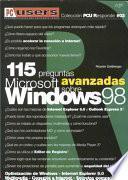 115 Preguntas Sobre Microsoft Windows 98 Avanzadas