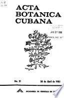 Acta botanica Cubana