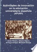Actividades de innovación en la educación universitaria española