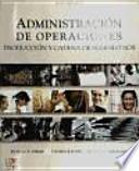 ADMINISTRACIÓN DE OPERACIONES