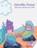 Adorables sirenas libro para colorear para niños 1