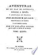 Adventuras de Gil Blas de Santillana