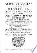 Advertencias a la Historia del P. Juan de Mariana...