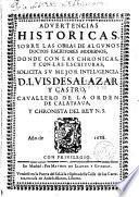 Advertencias historicas sobre las obras de algunos doctos escritores modernos