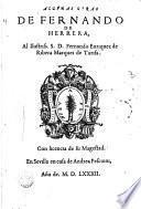 Algunas obras de Fernando de Herrera ...