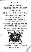 Alma o aphorismos de Cornelio Tacito