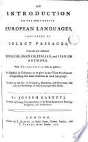 An Introduction to the Most Useful European Languages