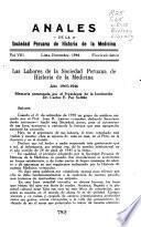 Anales de la Sociedad Peruana de Historia de la Medicina