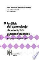 Análisis del aprendizaje de conceptos y procedimientos