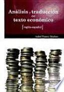 Análisis y traducción del texto económico inglés-español