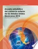 Anuario estadístico del comercio exterior de los Estados Unidos Mexicanos 2010. Importación en dólares