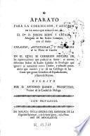 Aparato para la correccion y adicion de la obra que publicó en 1769 el Dor. D. Joseph Berní y Catalá ... con el título Creacion, antiguedad y privilegios de los títulos de Castilla