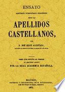 APELLIDOS CASTELLANOS.ENSAYO HISTORICO