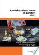 Aprovisionamiento interno en pastelería