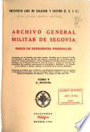 Archivo General Militar de Segovia