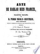 Arte de hablar bien francés