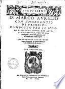 Aureo libro di Marco Aurelio0