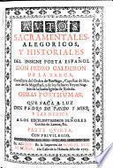 Autos sacramentales, alegoricos y historiales ... obras posthumas que saca a luz Pedro de Pando y Mier