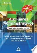 Auxiliares administrativos de la Comunidad Autónoma del País Vasco