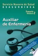 Auxiliares de Enfermeria Del Servicio Navarro de Salud-osasunbidea. Temario Volumen Ii Ebook