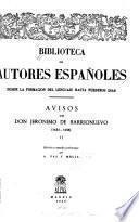 Avisos de Jerónimo de Barrionuevo