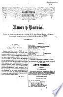 Biblioteca Dramática. Amor y Patria, drama en cinco actos y en verso