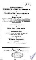 Bibliotheca medico-chirurgica et pharmaceutico-chemica