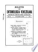 Boletín de entomología venezolana