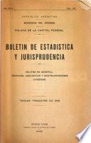 Boletin de estadística y jurisprudencia