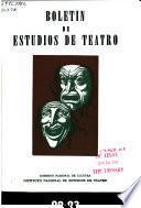Boletín de estudios de teatro