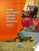 Boletín de información oportuna del sector alimentario No. 346