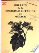Boletín de la Sociedad Botánica de México