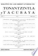 Boletín de los Observatorios de Tonantzintla y Tacubaya