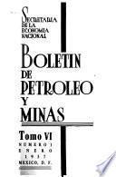 Boletín de minas y petróleo ...
