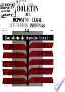 Boletín del depósito legal de obras impresas
