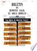 Boletín del deposito legal de obras impresas