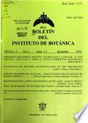 Boletín del Instituto de Botánica