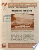 Boletin Informativo Proyecto Mip/catie