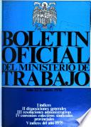 Boletin oficial del Ministerio de Trabajo