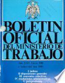 Boletín oficial del Ministerio de Trabajo, Sanidad y Seguridad Social