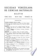 Boletín - Sociedad Venezolana de Ciencias Naturales