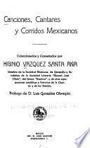 Canciones, cantares y corridos mexicanos