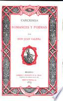 Canciones, romances y poemas