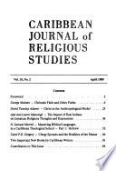 Caribbean journal of religious studies