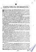 Carta para el Escarmiento. On the condition of Spain in the year 1710