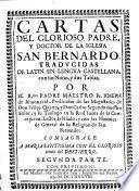 Cartas del glorioso padre y doctor de la Iglesia San Bernardo