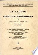 Catalogos de la Biblioteca Universitaria