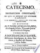 Catecismo, o Instruccion christiana