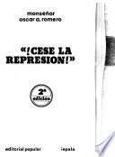 !Cese la represión!
