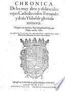 Chronica de los ... reyes catholicos don Fernando y dona Ysabel ...
